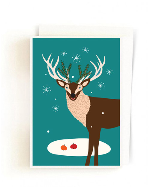 Christmas Forest Cards / Deer Snowflake