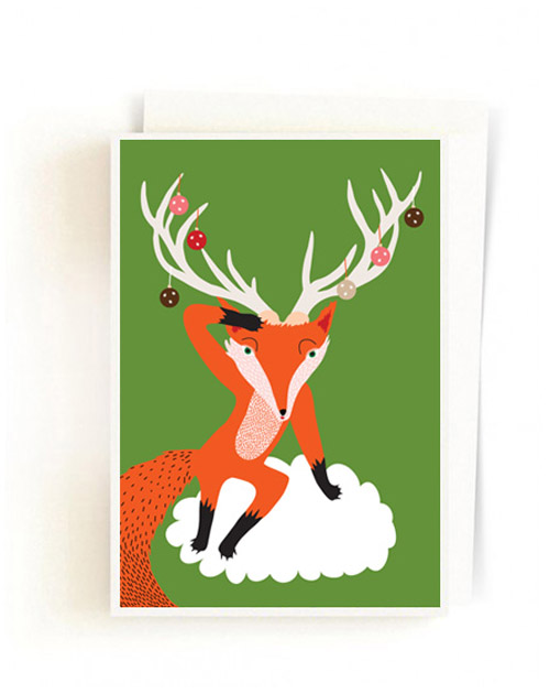 Christmas Forest Cards / Fox Louis