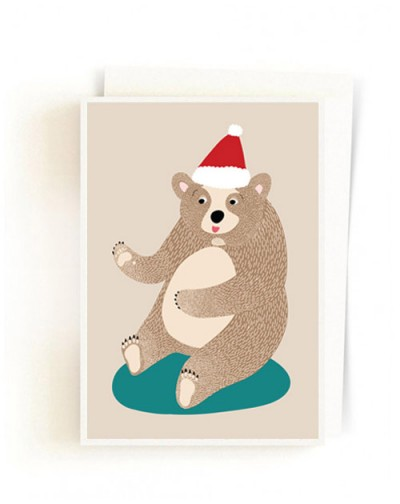 Christmas Forest Cards / Santa Bear