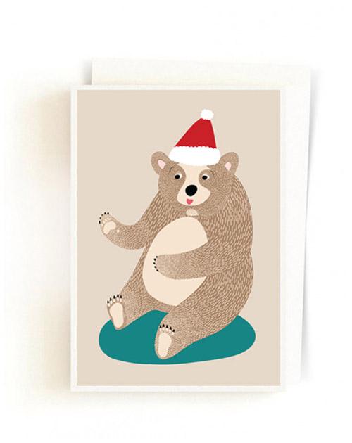 Christmas Forest Cards / Santa Bear
