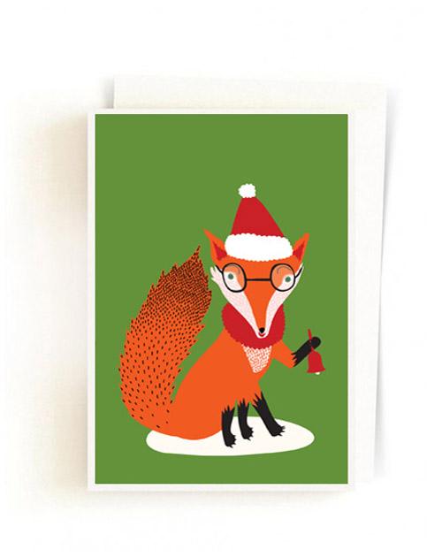 Christmas Forest Cards / Santa Fox