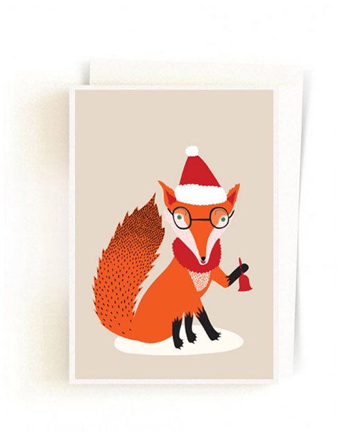 Christmas Forest Cards / Santa Fox Light