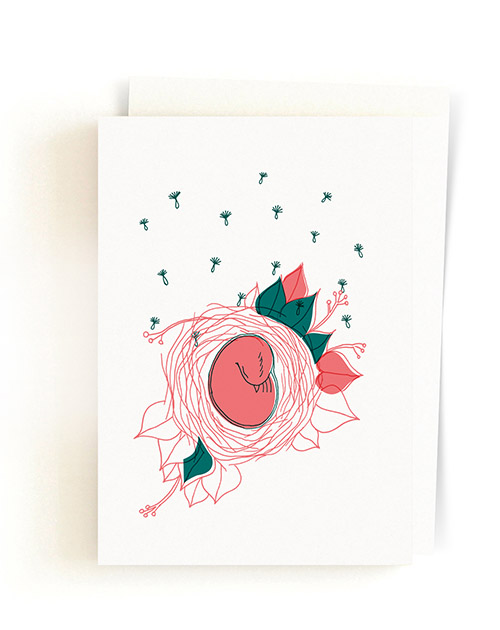 Toulitka / Greeting Card + Envelope 07