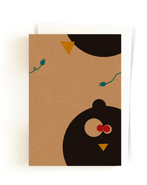 Pig & Chicken / Postcard + Envelope 01